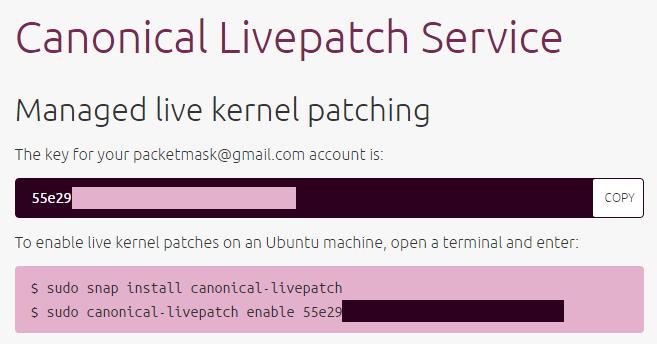 Livepatch Token